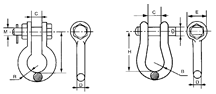 Anchor shackle drawings