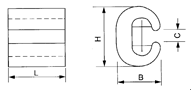 Compression type C-Shape Aluminum Wire Clamp drawing