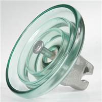 Toughed glass suspension insulator